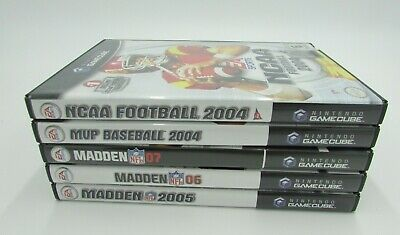 Nintendo Gamecube Lot of 5 Sports Games Replacement Cases Good Condition Used
