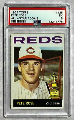 1964 Topps Baseball Card 125 Pete Rose All Star Rookie Trophy