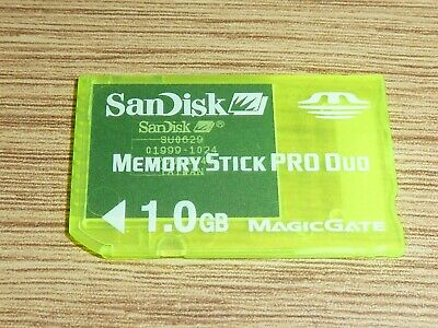 1GB SANDISK MEMORY STICK PRO DUO CARD for SONY PLAYSTATION PSP MS 1 GB MagicGate