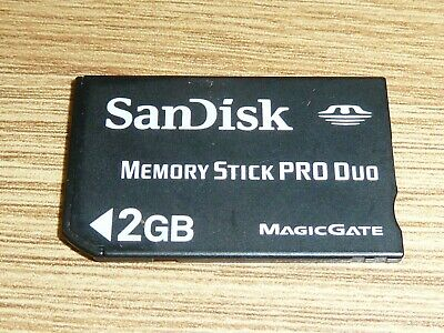 2GB SANDISK MEMORY STICK PRO DUO CARD for SONY PLAYSTATION PSP MS 2 GB MagicGate