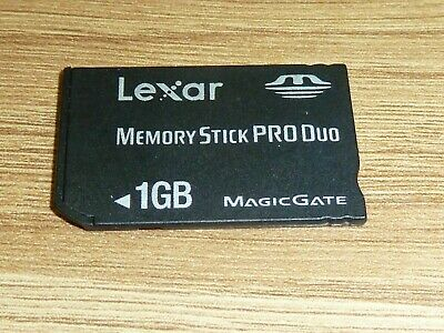 1GB LEXAR MEMORY STICK PRO DUO CARD for SONY PLAYSTATION PSP MS 1 GB MagicGate