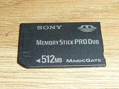 512MB SONY MEMORY STICK PRO DUO CARD - SONY PLAYSTATION PSP MS 512 MB MagicGate
