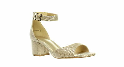 f9f02d5c672b4 DREAM PAIRS WOMENS Formosa Gold Ankle Strap Heels Size 7.5 (346640 ...