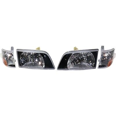 Headlight For 1998-1999 Volvo VN Driver and Passenger Side