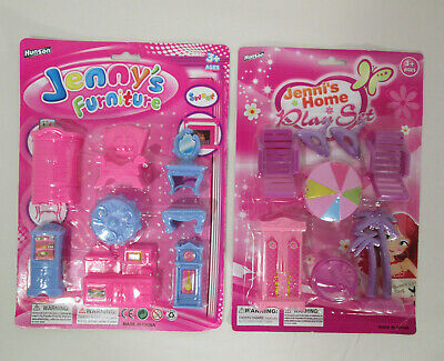Jenny's Home dollhouse furniture, living room & beach playset, Hunson toys 1/24