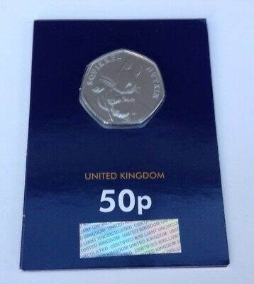 2016 Squirrel Nutkin Beatrix Potter 50p Brilliant Uncirculated BUNC BU Sealed