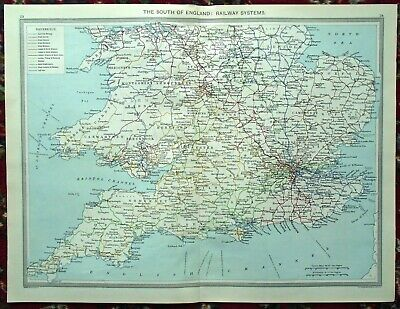 Large Map Of England.Large Railway Map England Scotland Dower 1846 Eur 22 27