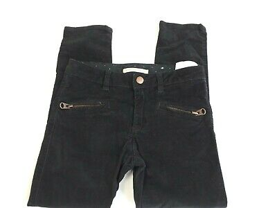 ZARA age 6yrs Girls black party jeans trousers soft velvety feel (c79)