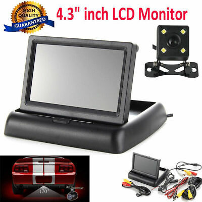 "4.3"" inch Foldable TFT LCD Monitor+ Car Rear View System Backup Reverse Camera"