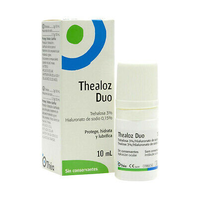 Thealoz Duo Eye Drops 10Ml Protects Hydrates&Lubricates Eyes Preservative Free