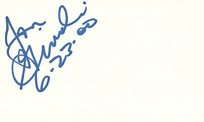Jon Ginoli Guitarist Pansy Division Rock Band Autographed Signed Index Card