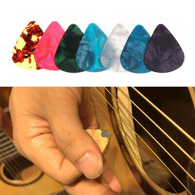 10Pcs 0.46mm-1.2mm Mixed Celluloid Guitar Bass Picks Plectrums Electric Acoustic