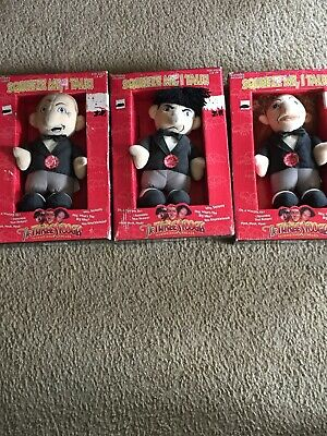 Vintage Three Stooges Talking Knuckleheads Complete Set Of 3
