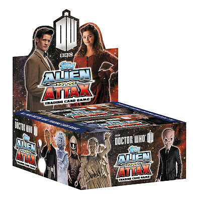 Topps Doctor Who Alien Attax Trading Card Game Booster Box Factory Case -VALUE