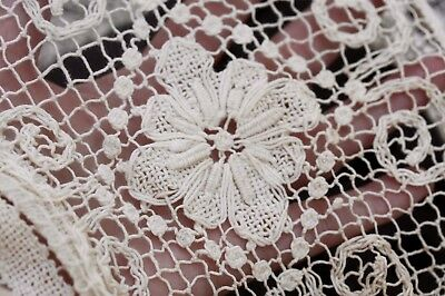 "Stunning vintage or antique tablecloth - 60"" x 85"""