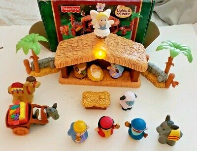 Fisher Price Little People Deluxe Christmas Story Nativity Set New