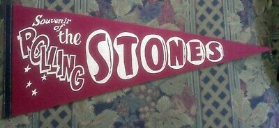 """""""Souvenir Of The Rolling Stones"""" 1960'S Concert Pennant (Maroon)"""