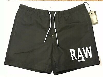 dd35fa37aa NWT Men's G-Star Raw PILON Beach Shorts Swim Trunks Raw BLACK Size LARGE