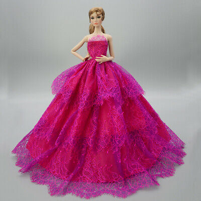 Fashion Handmade Princess Dress Wedding Clothes Gown for 11.5in.Doll #11