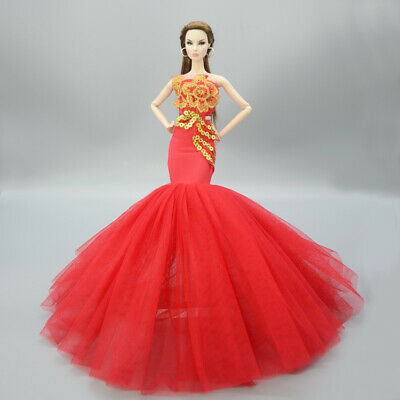 Fashion Handmade Princess Dress Wedding Clothes Gown for 11.5in.Doll #13