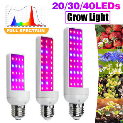 20/30/40 LED E27 Grow Light Full Spectrum Indoor Plant Lamp For Hydroponic seeds
