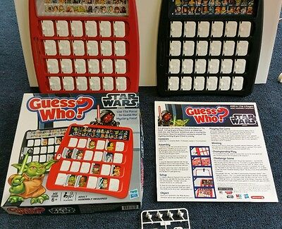 Guess Who? Star Wars Edition 2012 Memory Game by Hasbro 100% Complete Unused