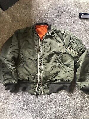 b92285a4f ORIGINAL REVERSIBLE bomber flight jacket/ 1982/ oi/ skinhead/ punk/ mod