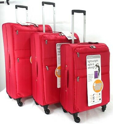 Hard Shell Super Lightweight Trolley Set Of 3 4 wheel Spinner Luggage Suitcases