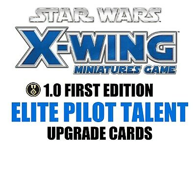Star Wars X-Wing 1.0 Miniatures Game - Elite Pilot Talent Single Upgrade Cards