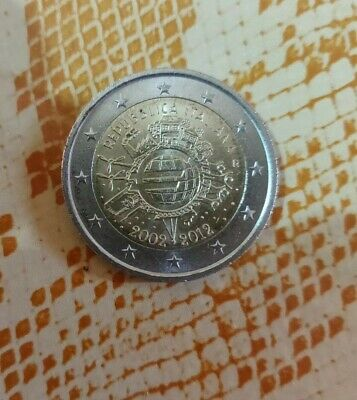 Moneta 2 Euro Rara commemorativa 2002-2012