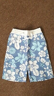 Mini Boden Girls Cotton Floral Knee Length Board Shorts - 2-3yrs Excellent Cond