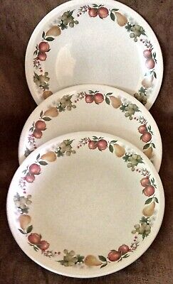 Wedgwood QUINCE England Three Dinner Plates