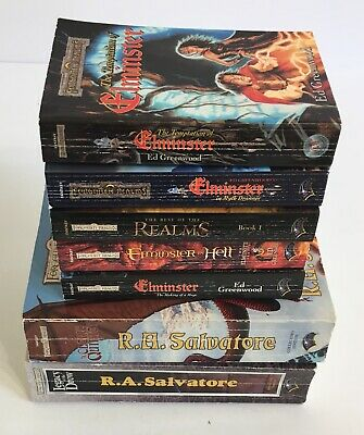 LOT OF 7 Forgotten Realms Fantasy Paperback Books SALVATORE Elminster + More