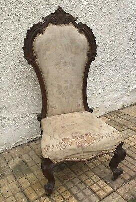 Antique Nursing Chair for Refurbishment Gorgeous Carved top and legs