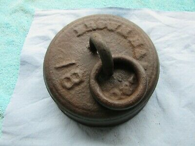 Vintage Brown Ball Co. Cast Iron Horse Hitch Tether Buggy Wagon Weight 18 LBS.