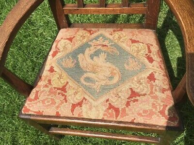 Georgian Childs Mahogany Chair with Tapestry Seat.