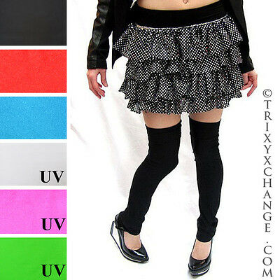 Shiny Leg Warmers Black Leggings Boot Covers Latex Cosplay Costume Covers Latex