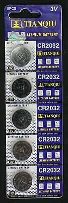 5 Tianqui CR2032 CR 2032 3 Volt Lithium Button Cell Battery EXP 2022 USA SHIP
