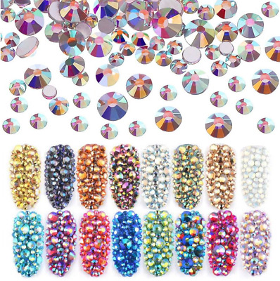 1000 Rhinestones - Crystal Flat Back Resin Nail Art Face Gems Crafts Festival