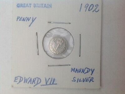 1902 Maundy penny coin