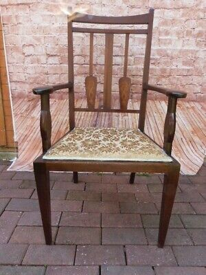Lovely Antique Art Nouveau Upholstered Bedroom Occasional Chair.