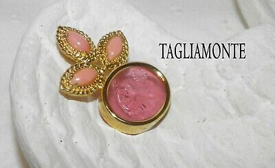 TAGLIAMONTE(1189A)Pendant*YGP925*Angel Skin Coral*Pink MUSE Venetian Cameo