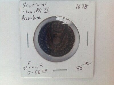1678 Charles II BAWBEE.  The best I have seen in a long while
