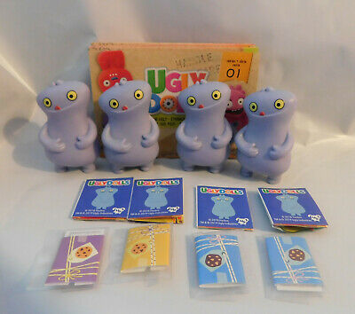 """4 Ugly Dolls Figures: 2"""" Cookie-Loving Purple Babo Play Party Favors 2019 Movie"""