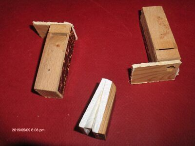 2 All Wood Cuckoo Clock Bellow Tubes, 1 New Top,Germany,for Repairs