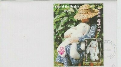 Stamps Norfolk Island 1999 Year of the Rabbit 95c mini sheet plain FDC, uncommon