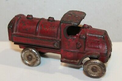 "NICE VINTAGE 1920's CAST IRON CHAMPION MACK GAS & OIL TANKER TRUCK  4.5"" long"