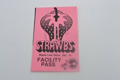 1970's Strawbs Facility Pass - Concert Productions International NOS
