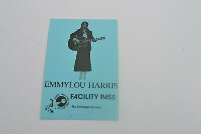 1970's Emmy Lou Harris Facility  Pass - Concert Productions International NOS