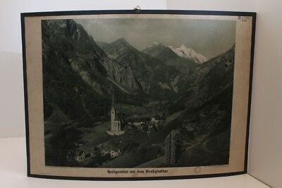 Schulwandtafel Wall Chart Heiligenblut with the Grossglockner Austria Sheets 6